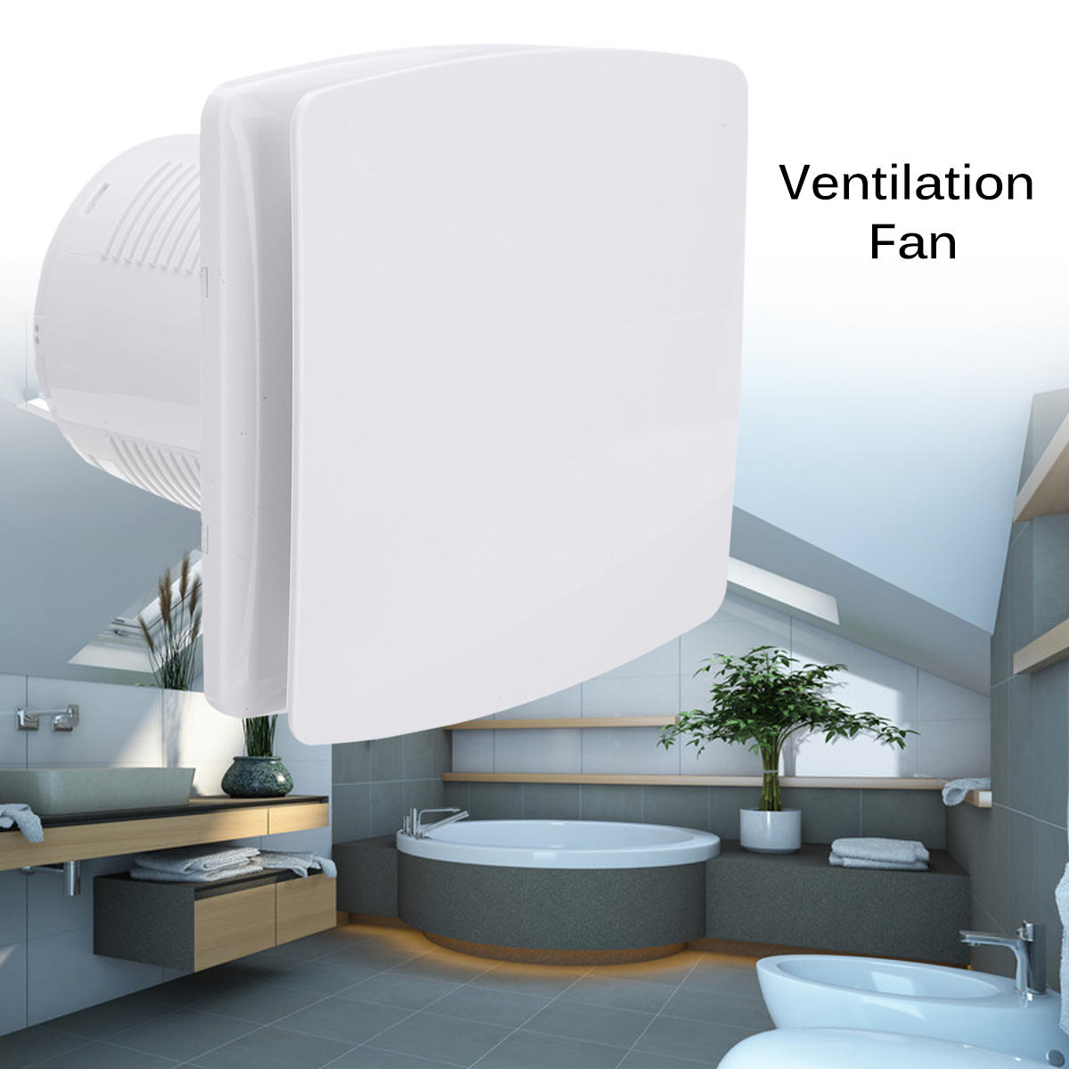 Hotel Side Wall Bathroom Bathroom 4 Inches Low Noise Ventilation Fan - 3