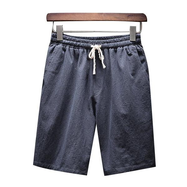 INCERUN Men's Vintage Solid Loose Fit T-Shirts - 6