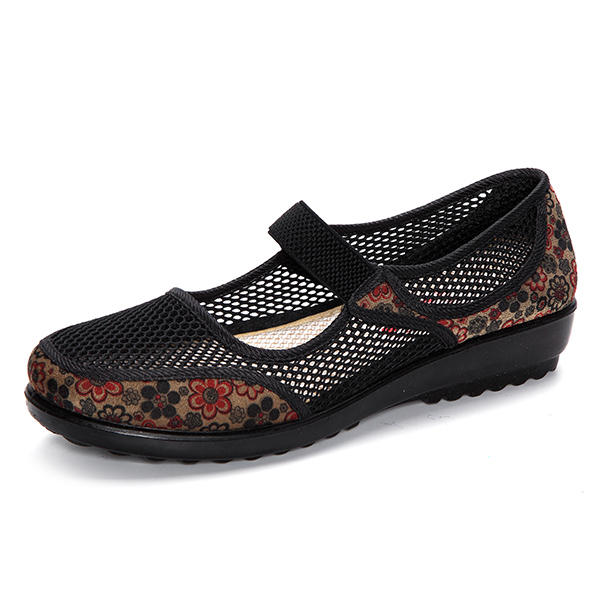 Women Large Size Canvas Sneakers Elastic Band Casual Flats - 9