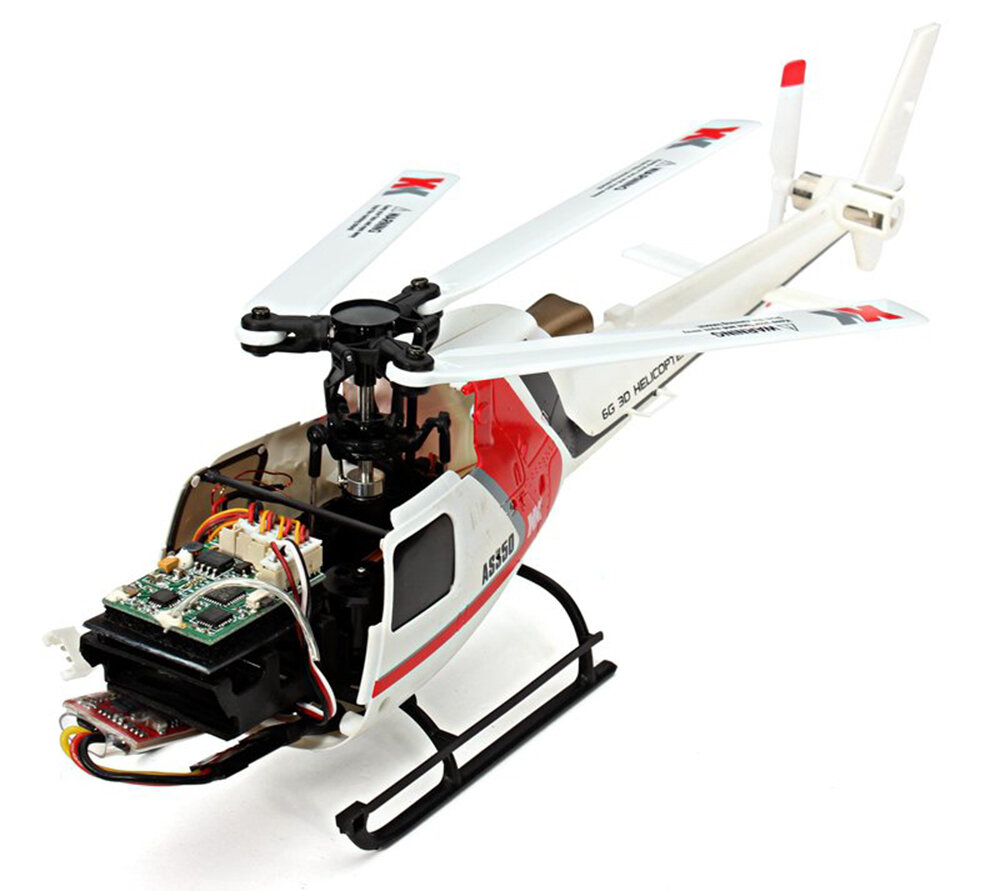 OMPHOBBY M2 V2 6CH 3D Flybarless Dual Brushless Motor Direct-Drive RC Helicopter BNF with Open Flight Controller - 6