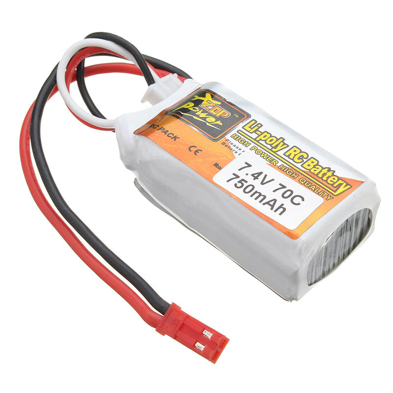2PCS ZOP Power 7.4V 750mAh 70C 2S Lipo Battery JST Plug For RC Drone - 3