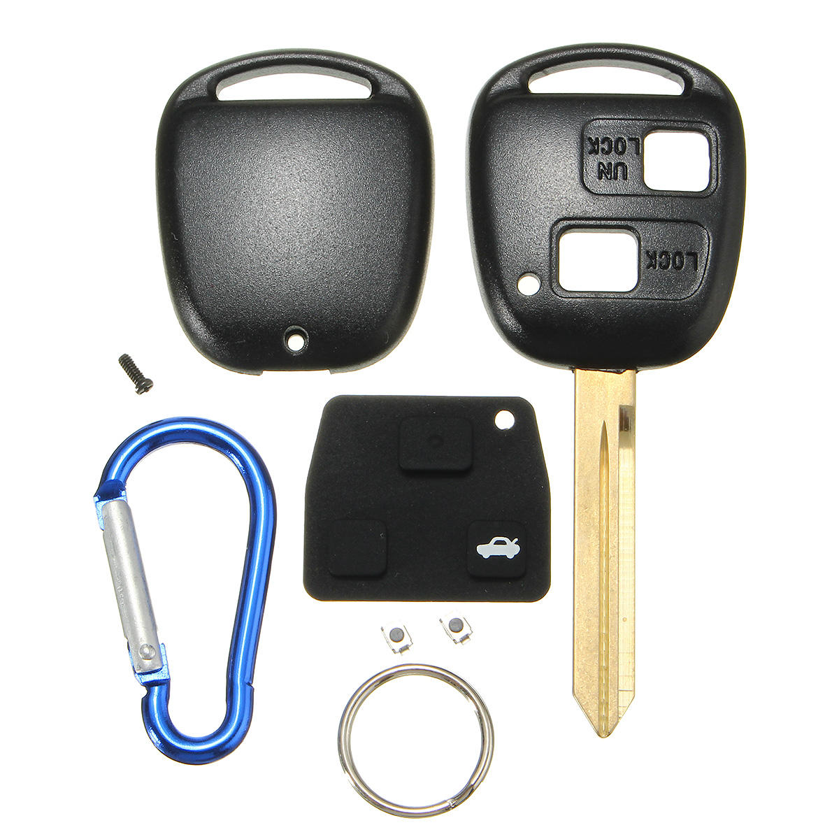 Remote New Key Case Shell 2 Buttons For Fit Toyota Yaris Core Hatchback 4-Door