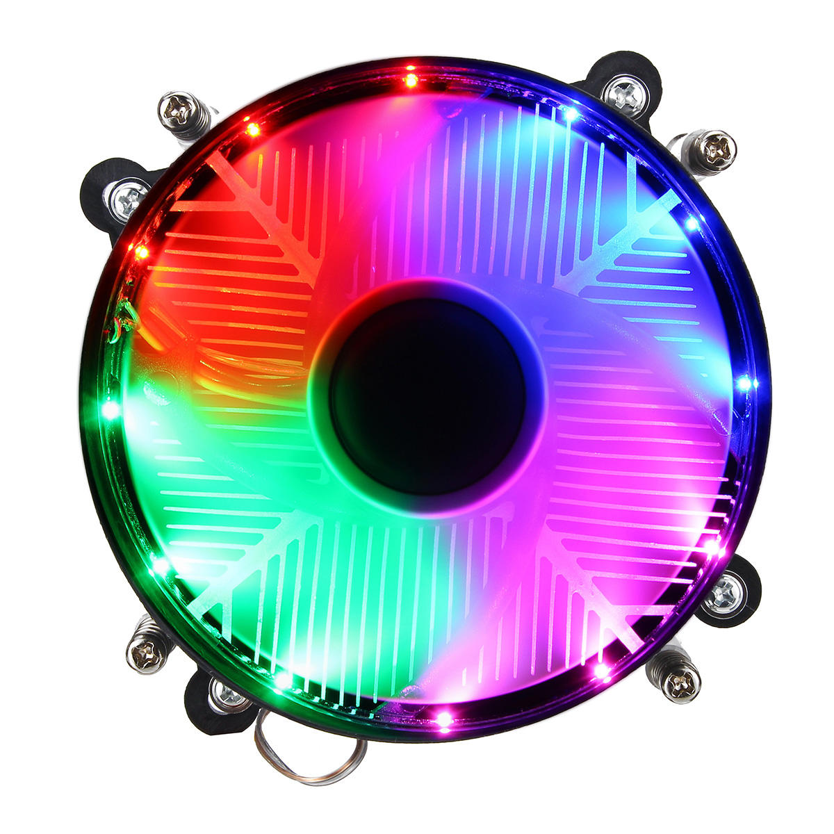 12V DC 3Pin CPU Cooling Fan CPU Cooler Coloful LED for Intel LGA 1150/1151/1155/1156/1366