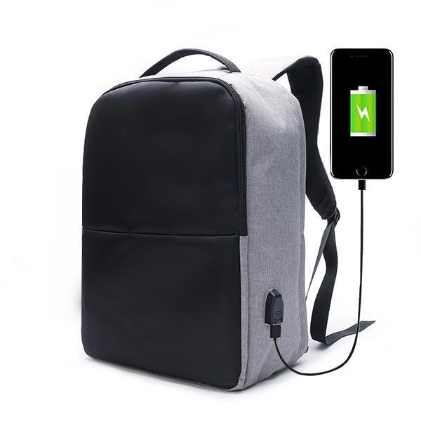 3c2c3ef329da Ekphero Men Anti Theft Backpack Waterproof Travel Bag With USB Charging Port