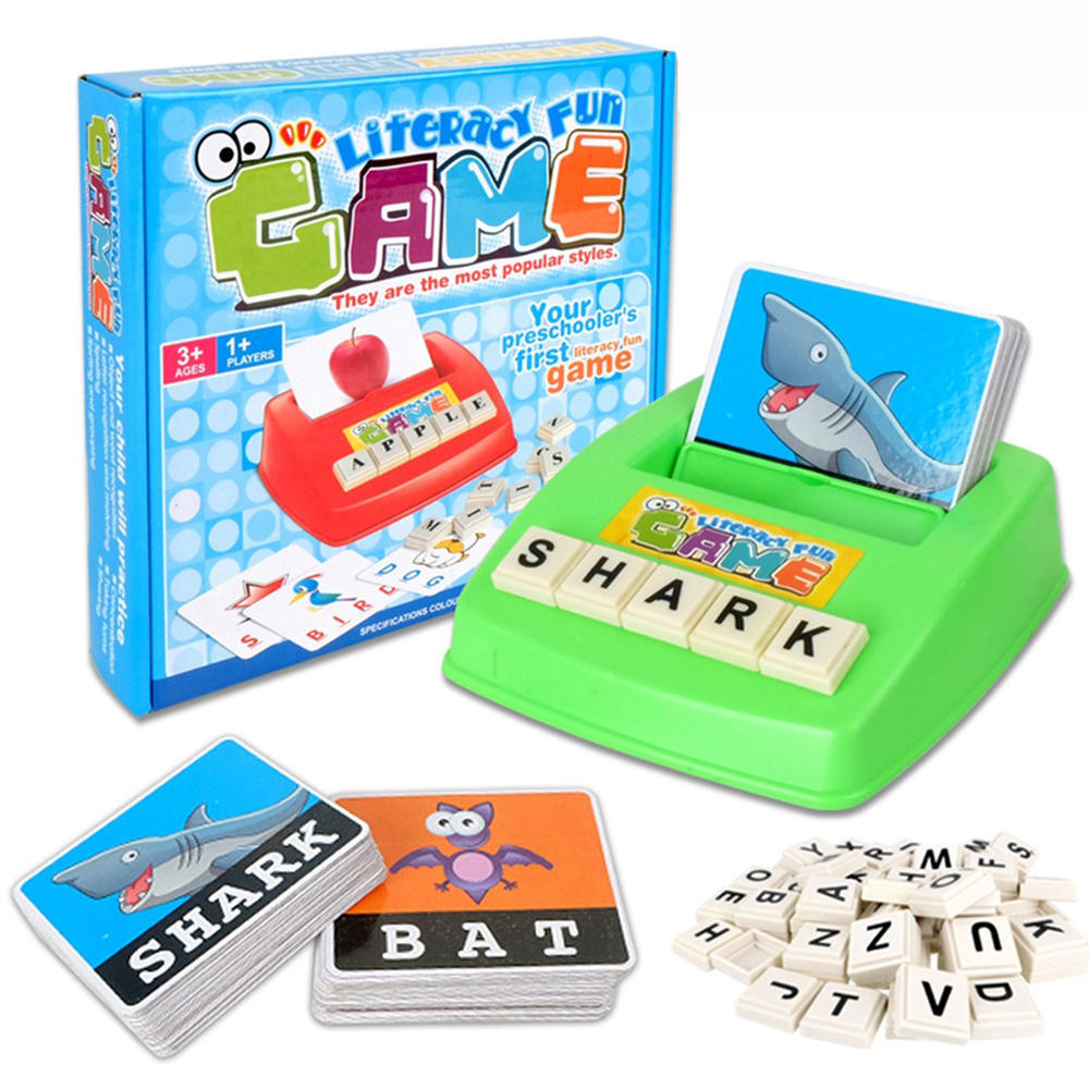 Kids Letters Alphabet Game English Learning Cards Toys Children's Figure Spelling Game Platter Puzzle Spell Words Early Learning Toys - 1