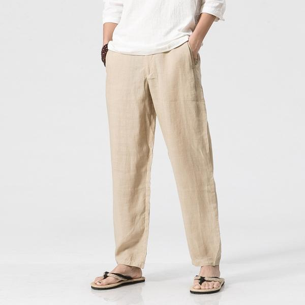 33052d345ca Men's Loose Cotton Linen Casual Pants Breathable Summer Spring Large Size  S-3XL Straight Trousers - Black S COD