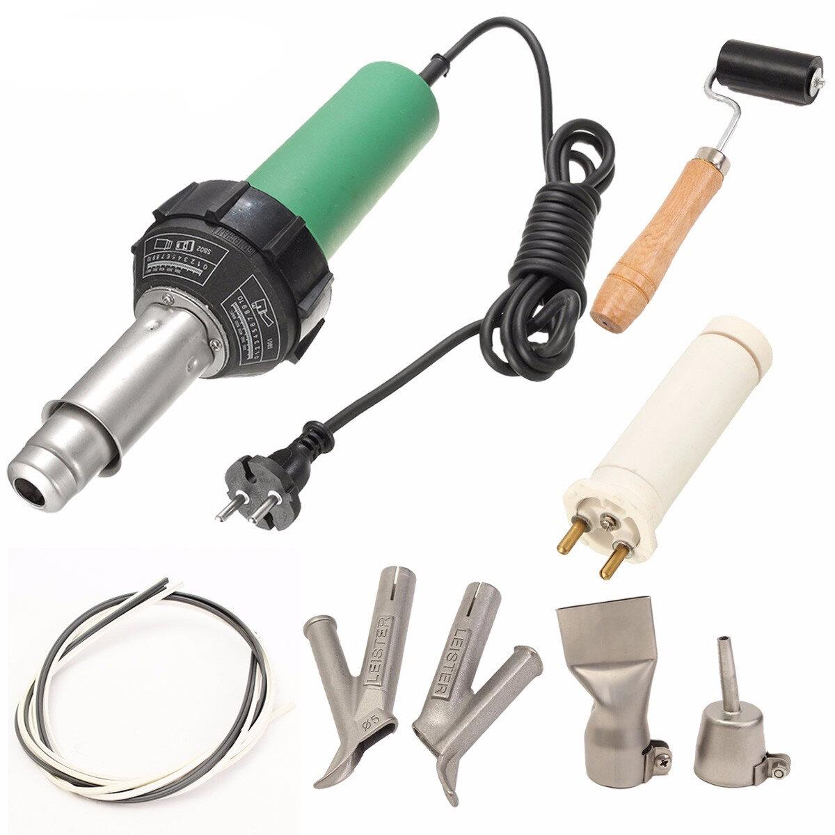 220V 1000W Plastic Welder Hot Air Gun Welding Heat Gun rod Welding Equipment