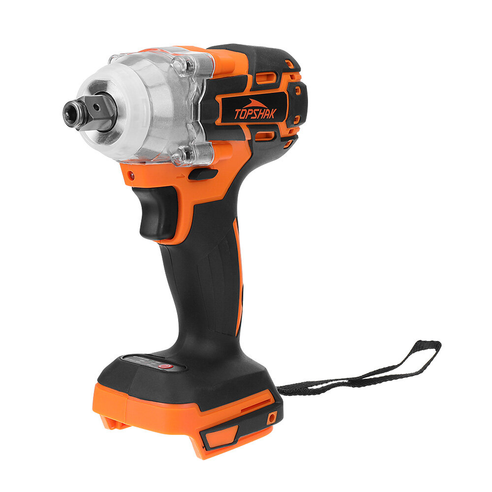 Topshak TS-PW1 Cordless Brushless Impact Wrench Screwdriver Stepless Speed Change Switch For...