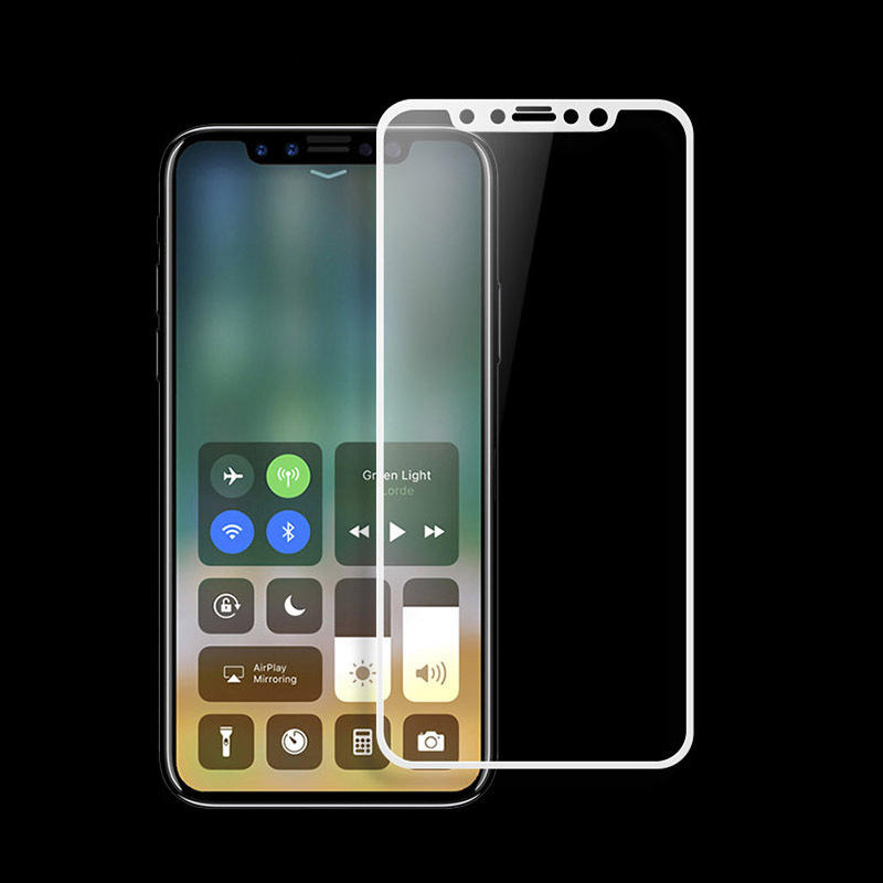 3D Arc Edge Explosion Proof Tempered Glass Beskyttelsesfilm for iPhone X
