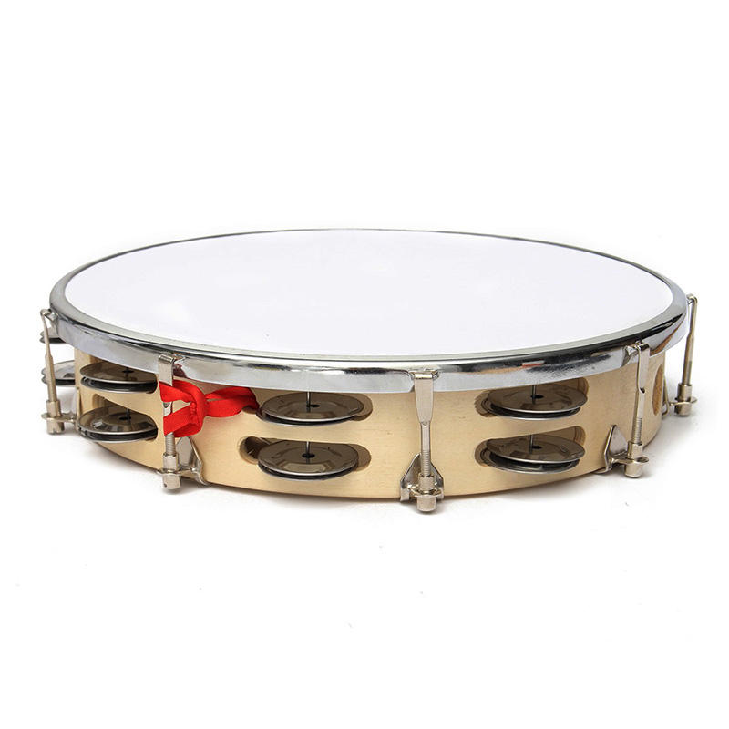 Polyester Leather Pandeiro Musical Drum Tambourine Samba Brazil Wood Percussion Instruments