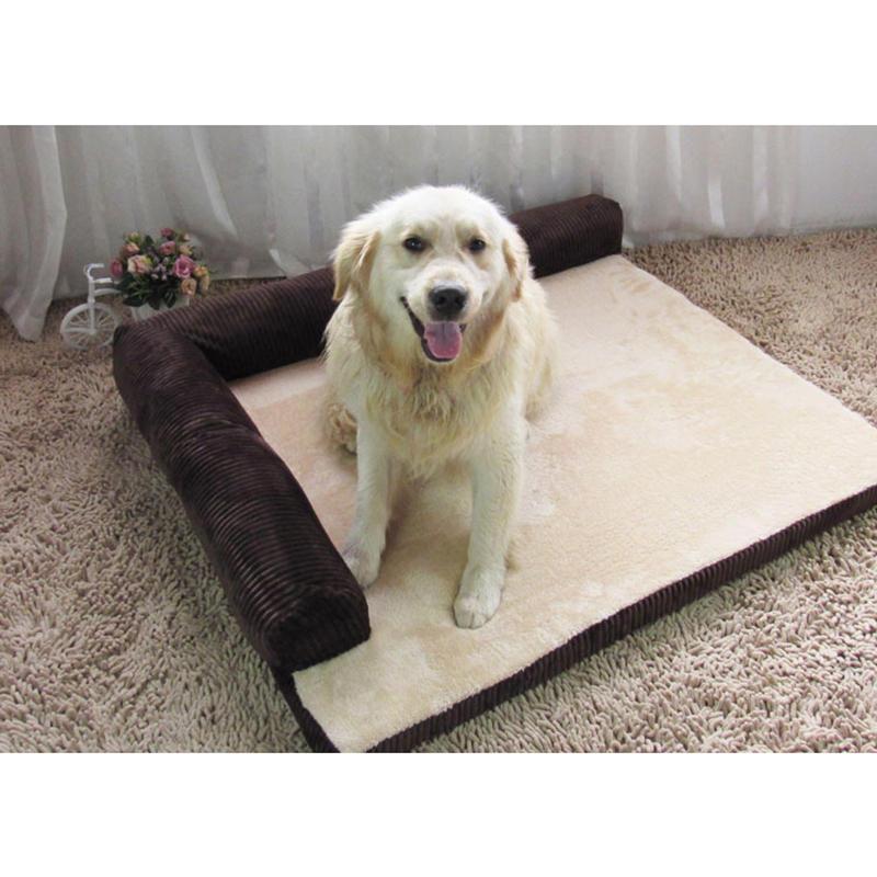 大型コーデュロイボルスターペット犬用ソファベッド子犬フリースベッドマット大犬用ペットベッド