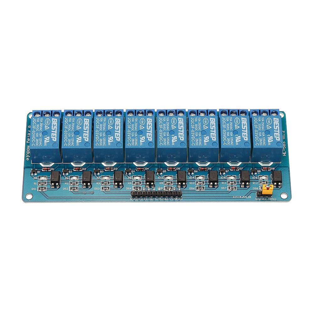 Картинка - 8-канальный модуль реле 3.3В, плата оптопары, реле управления реле низкого уровня BESTEP для Arduino - продукты, которые