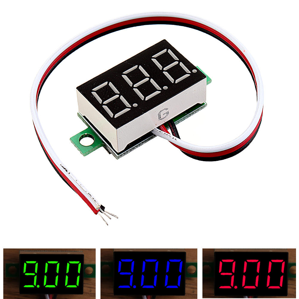Arduino 0.36 Inch DC0V-32V LED Digital Display Voltage Meter Voltmeter Reverse Connection Protection фото