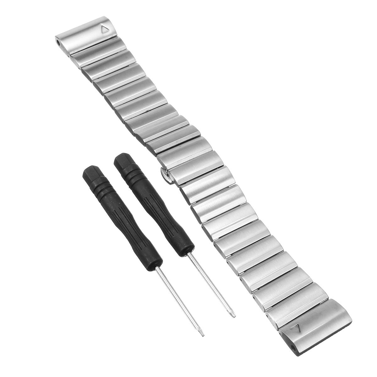 185MM Replacement Metal Stainless Steel Watch Band Strap For Garmin Fenix 3