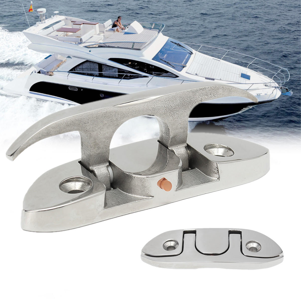 Stainless Steel 316 Folding Cleat Mount Marine Boat Hardware