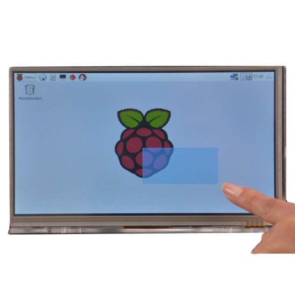 Raspberry pi 7 inch hd 1024 * 600 touch screen module kit with housing  bracket Sale - Banggood.com