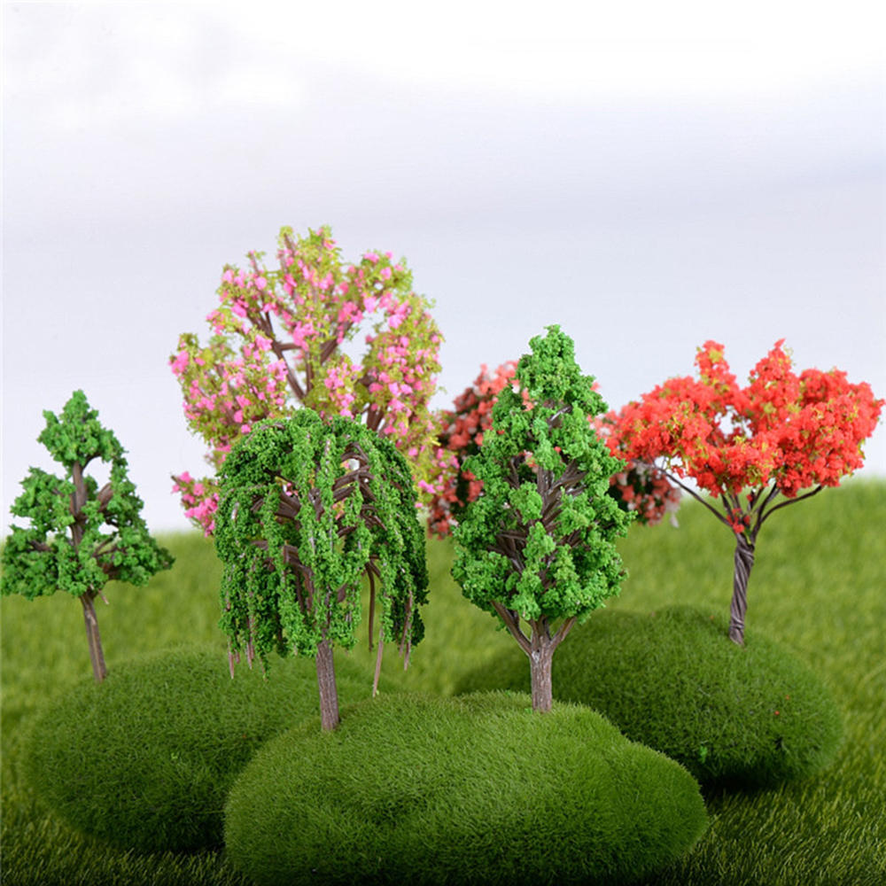 21Pcs/Lot Sand Table Model Garden Micro Landscape Flower Tree Combination Decorations