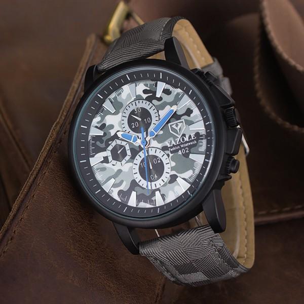 Đồng hồ đeo tay thể thao YAZOLE 402 ngụy trang quân đội