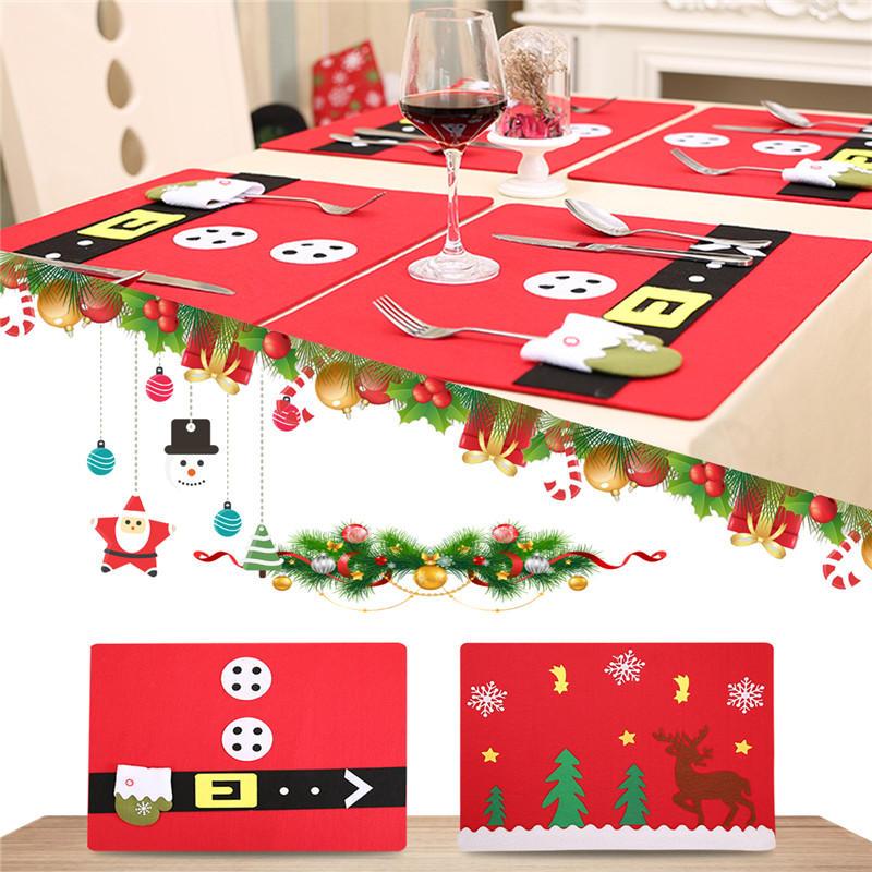 WeihnachtsfeierDekorationElchHandschuhTischsetsOrnament Spielzeug Für Kinder Kinder Geschenk - 1