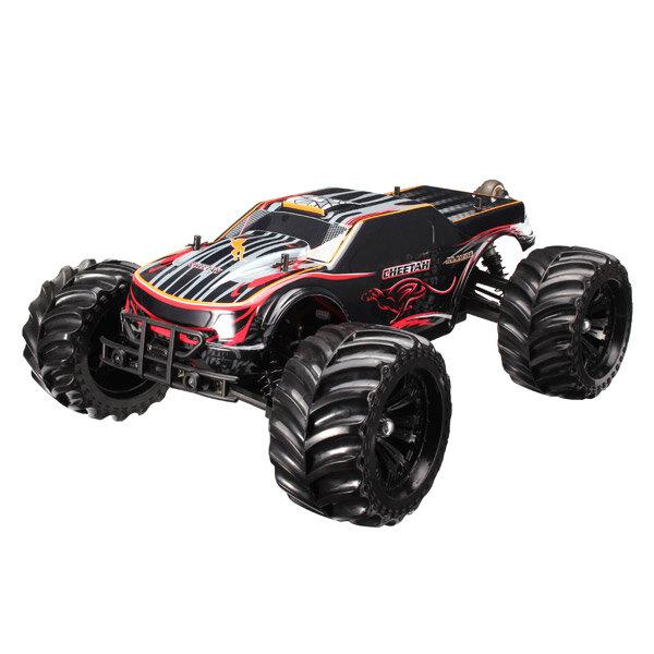 Eachine EAT04 1/12 2.4G 4WD Brush Rc Car Metal Body Shell Desert Off-road Truck RTR Toy Black - 1