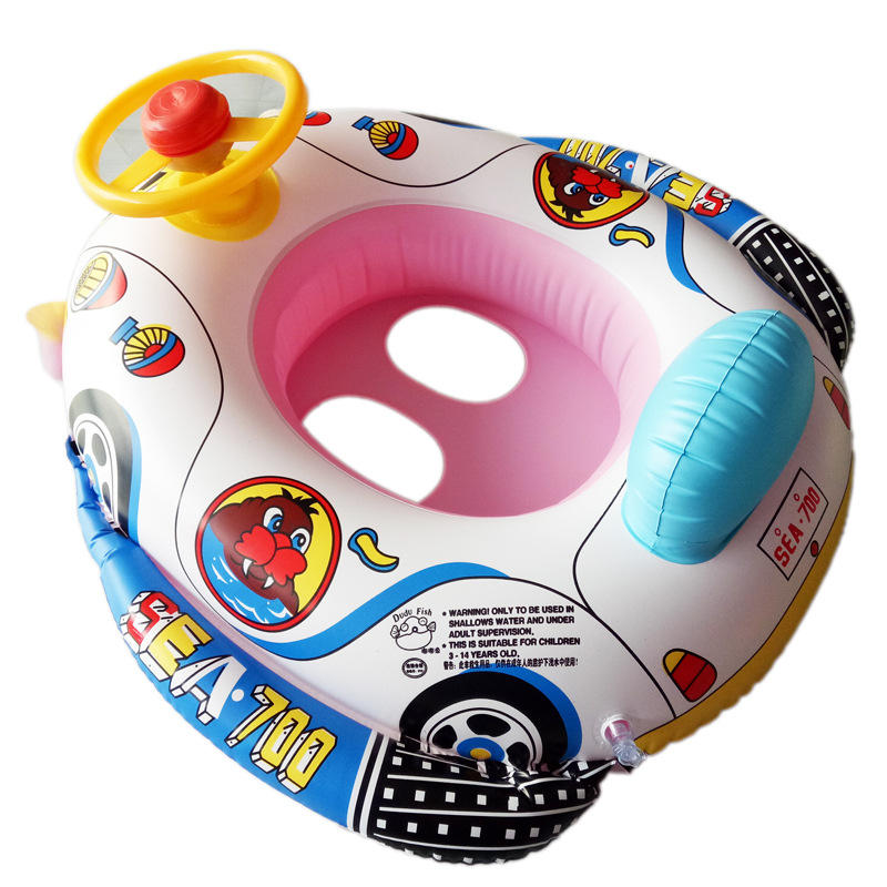 Inflatable Car Kids Swimming Ring Baby Toddler Swimming Pool Toy Children Float Seat Boat Ring фото