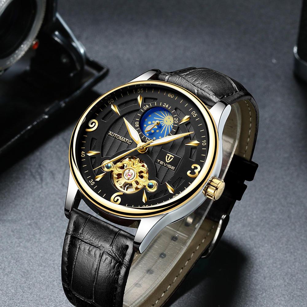 DEFFRUN Business Style Full Steel Automatic Mechanical Watch - 7