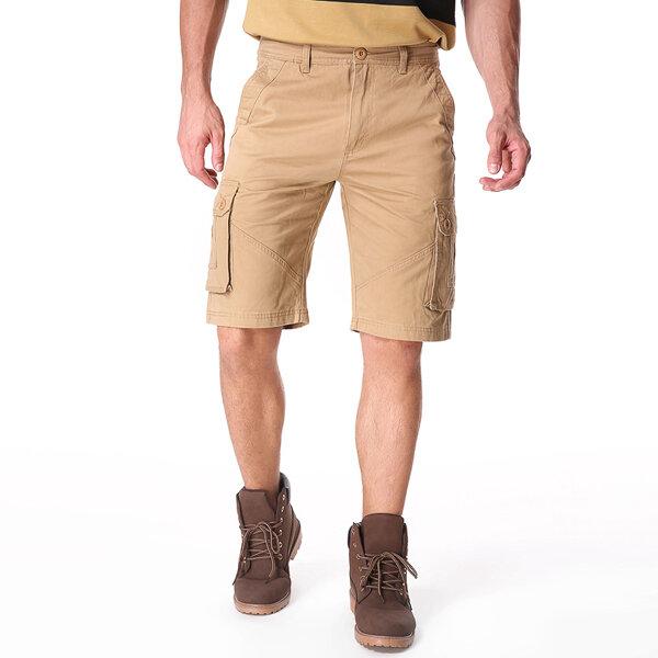 Outdoor Multi-pocket Cotton Cargo Shorts - 2