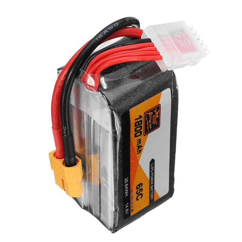 ZOP Power 14.8 V 1800 mAh 65C 4S Lipo batterij XT60 stekker voor RC FPV Racing Drone - 6
