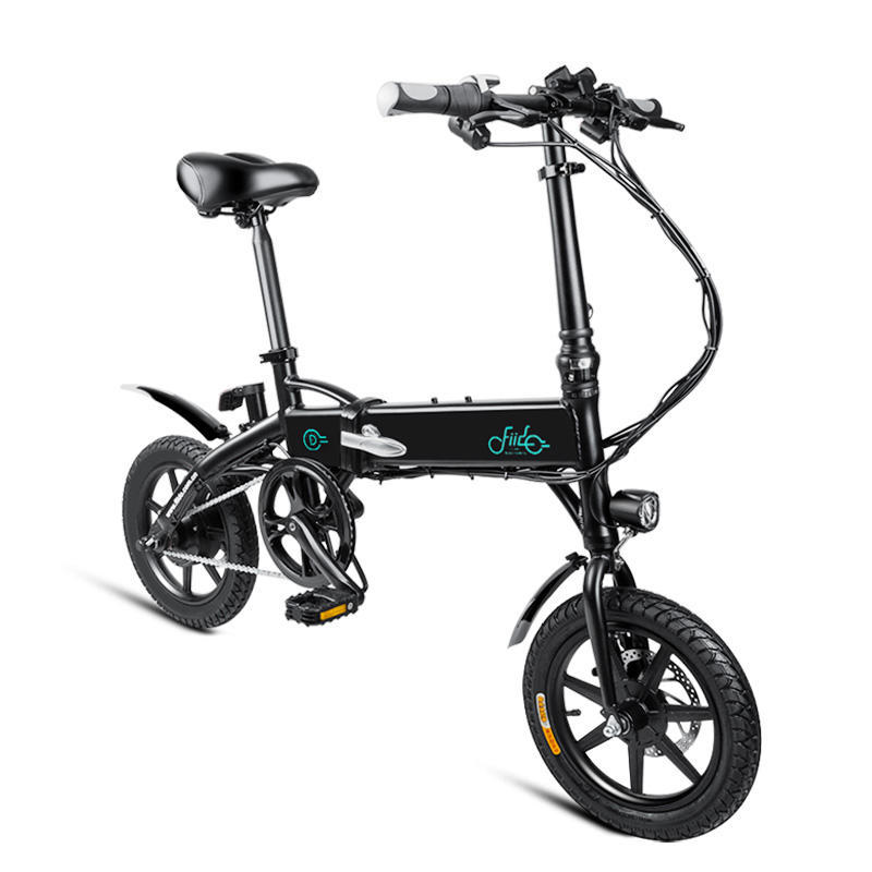 [EU Direct] FIIDO D1 10.4Ah 36V 250W 14 Inches Folding Moped Bicycle 25km/h Max 60KM Mileage Electric Bike