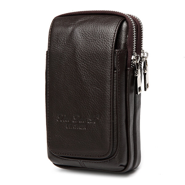cae82c4ab55 Genuine Leather Multi-function Fanny Waist Bag Belt Bum Pouch Phone Bag  Coin Purse For Men