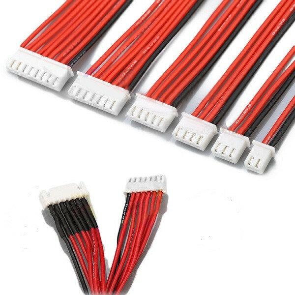 लाइपो बैटरी चार्जर सिलिकॉन वायर बैलेंस एक्सटेंशन केबल 2S 3Pin 3S 4Pin 4S 5Pin 6S 7Pin 8S 9Pin 2.54XH 30cm