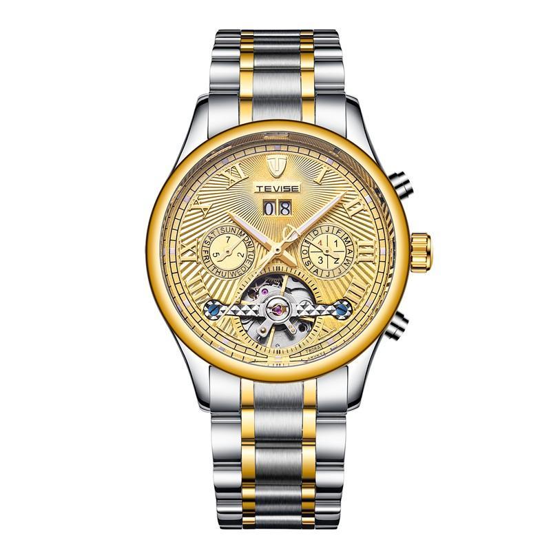 Đồng hồ đeo tay nam ĐỘI NG TE 806 gió tự động thép không gỉ dạ quang cơ Watche