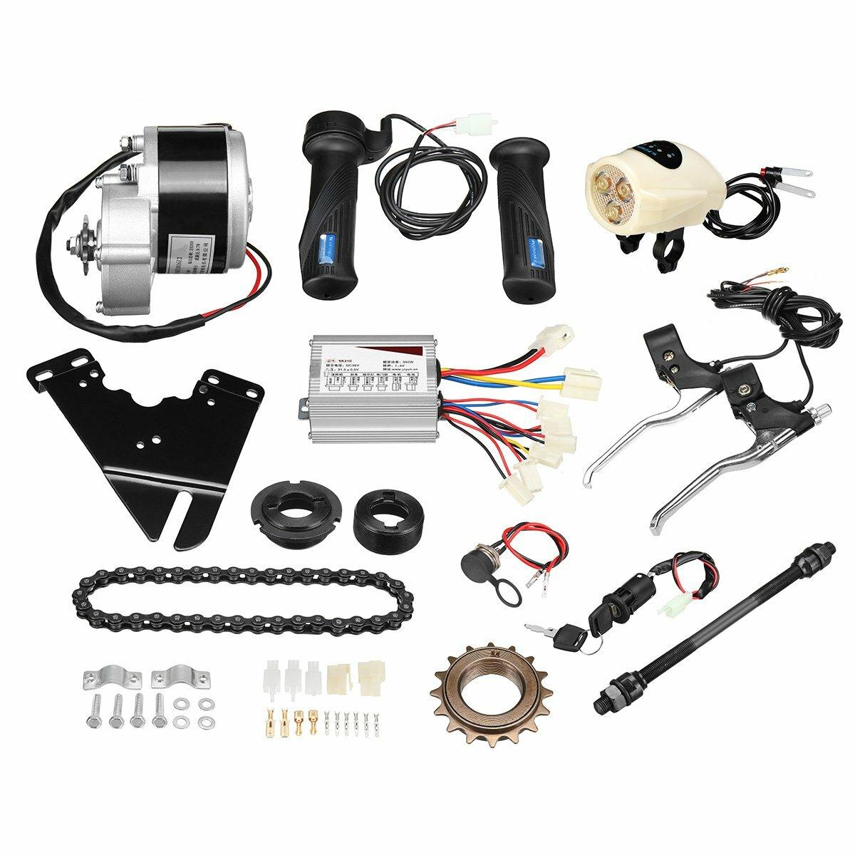 36V 250W elektrisk cykel konvertering Scooter Motor Controller Kit för 22-28 tums vanlig cykel