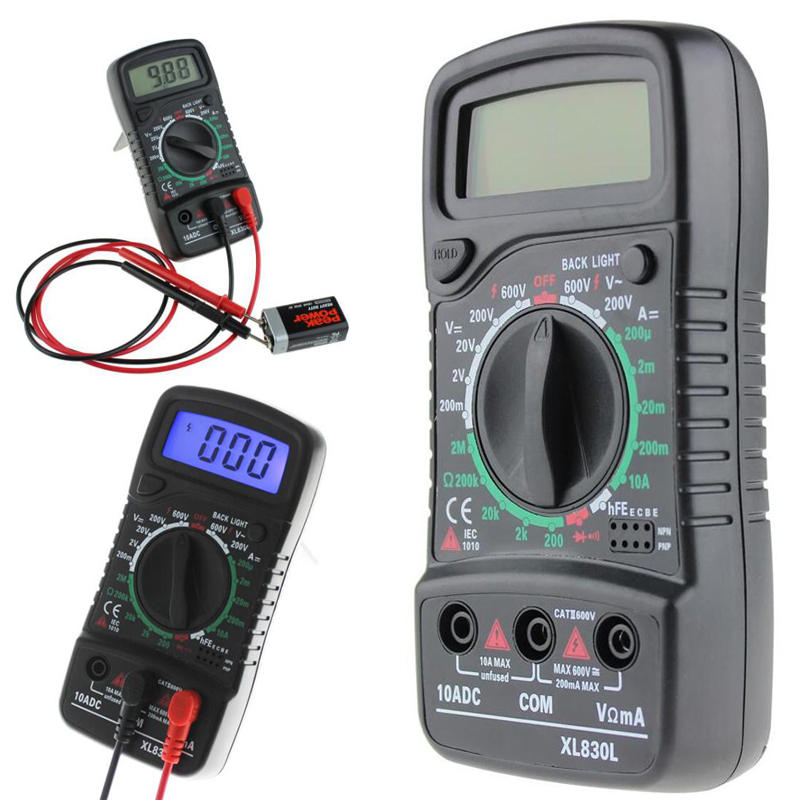 ANENG XL830L Digital LCD Multímetro Voltímetro Amperímetro AC/DC/OHM Probador de Voltaje Corriente