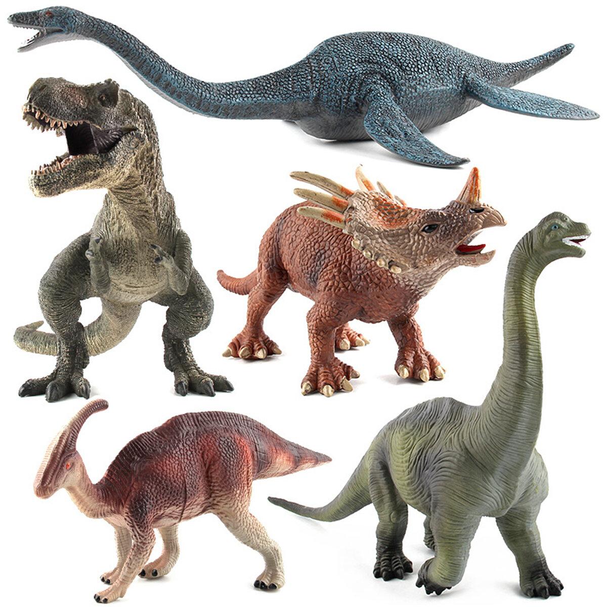 Большая игрушка динозавров Brachiosaurus Реалистичная твердая пластиковая модель Diecast для детей - 1