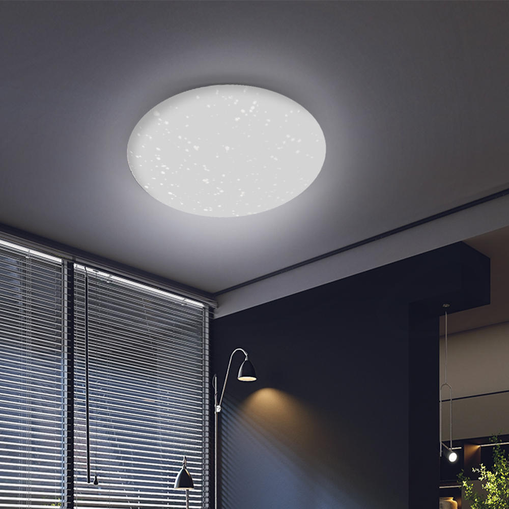 60W Dimmable LED RGBW bluetooth Music Speaker Ceiling Light APP Remote Bedroom - 2