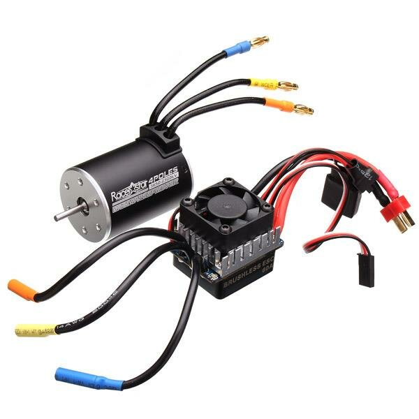 Racerstar 3650 Sensorless Brushless Waterproof Motor 60A ESC For 1/10 Monster Truck Truggy Cars