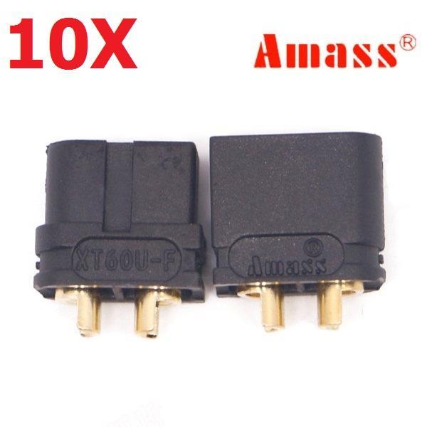 10 Pair Amass XT60U 3.5mm Banana Plug Connector Black Male & Female, Banggood  - buy with discount