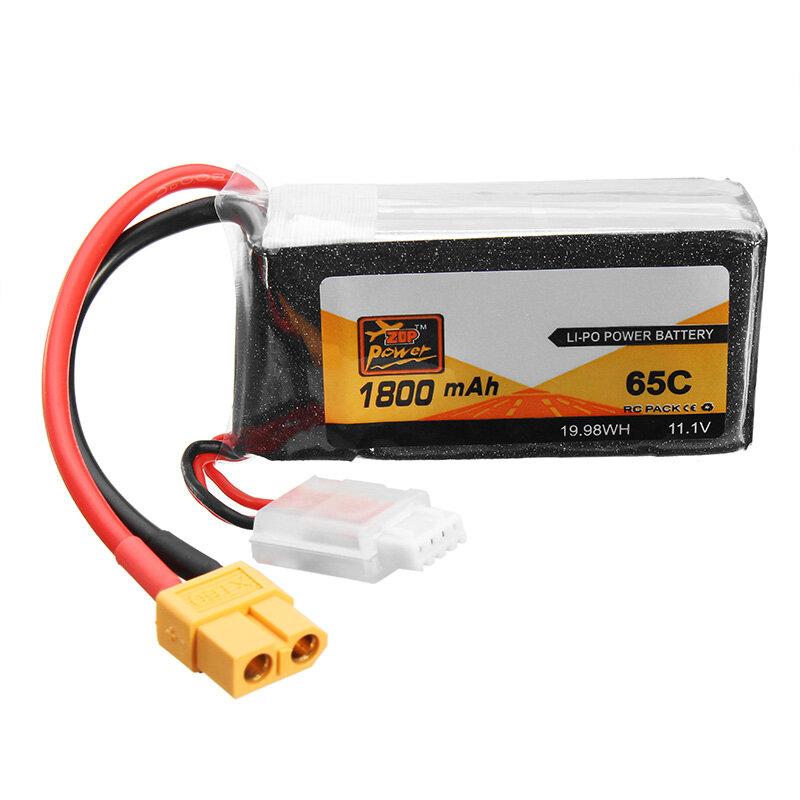 Puissance zop 11.1v 1800mah 65c 3S batterie lipo XT60 prise de courant - 1