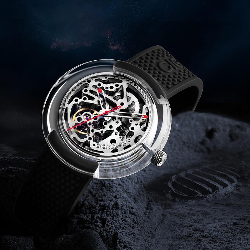 [Første udgivelse] Original CIGA Design T-serie Fuldt gennemsigtig uret taske SEAGULLS Bevægelsesmekanisk ur fra Xiaomi Eco-System