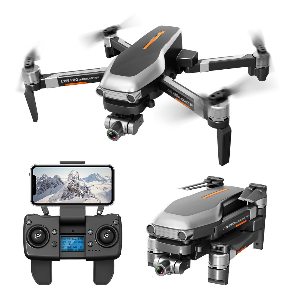 L109 PRO GPS 5G WIFI 800M FPV With 4K HD Camera 2-Axis Mechanical Stabilization Gimbal Optical Flow Positioning RC Quadcopter - Two Batteries With Bag