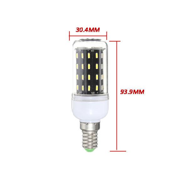 E27 E14 E12E E17 B22 15W 130 SMD 5736 LED Pure White Warm White Cover Corn Bulb AC85-265V - 9