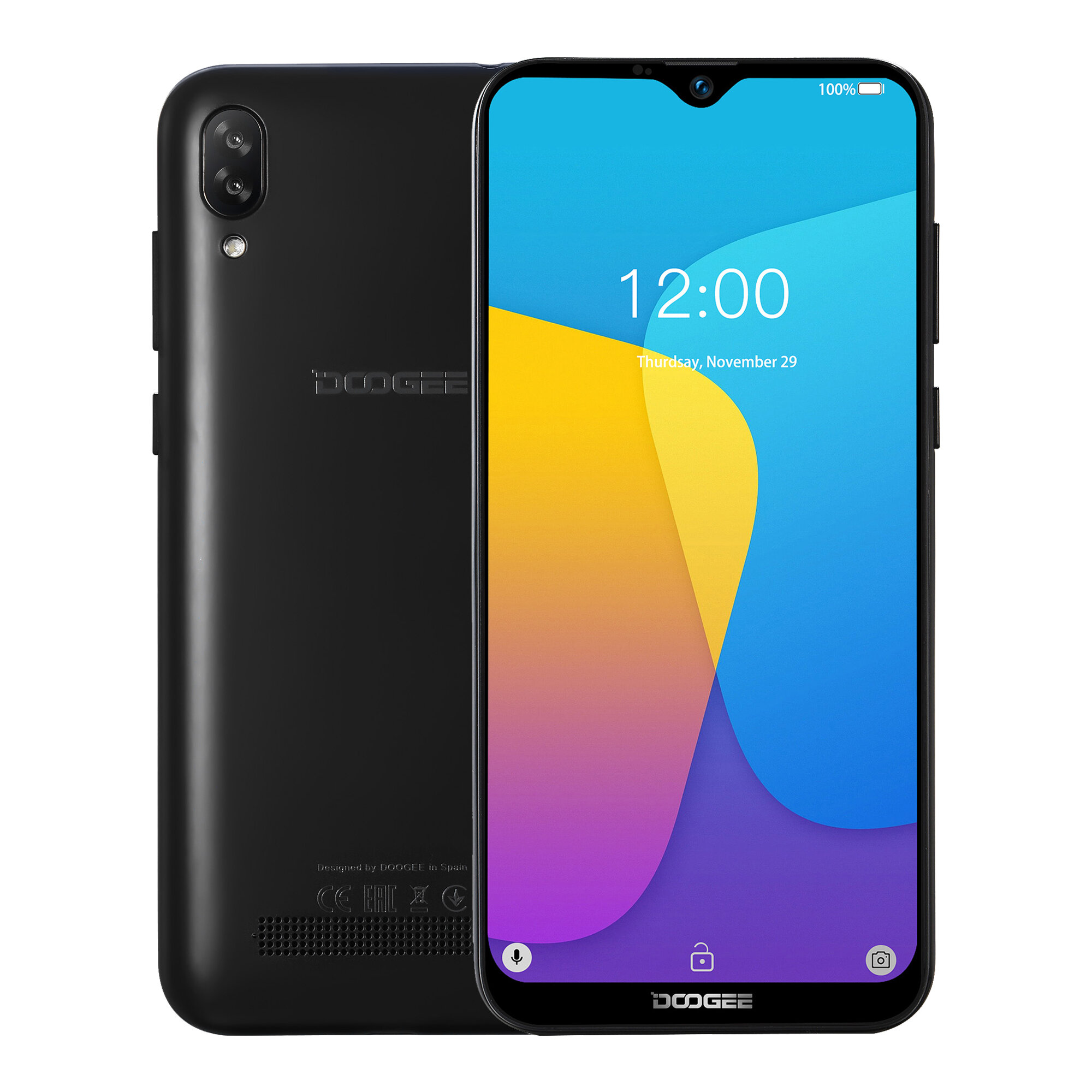 DOOGEE N20 6.3 inch FHD+ Android 9.0 4350mAh Triple Rear Cameras 16MP Front Camera 4GB 64GB Helio P23 4G Smartphone - 1