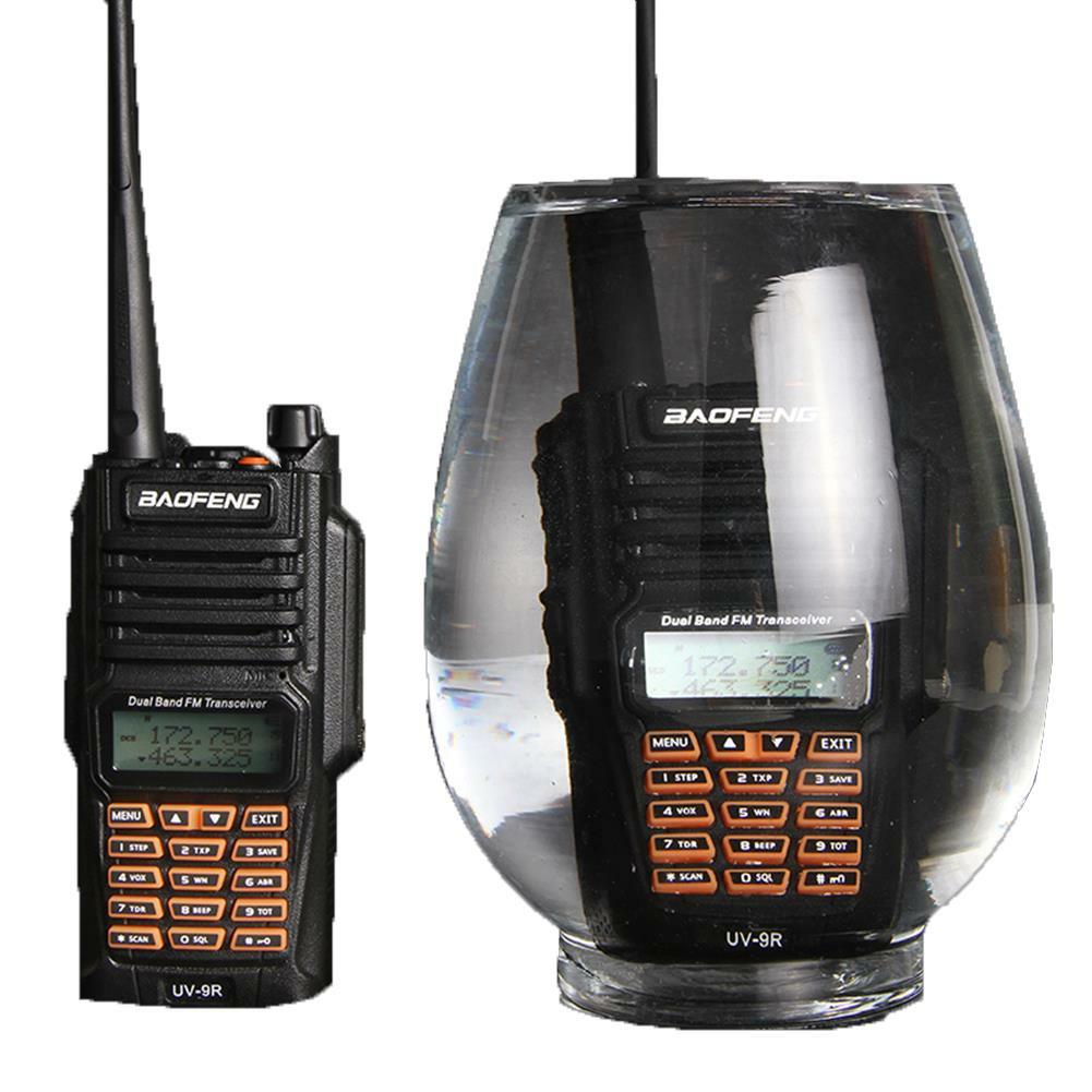 BAOFENG-UV-9R Walkie Talkie IP67 Waterproof Dual Band 136-174/400-520MHz Ham Radio 8W 10KM Range
