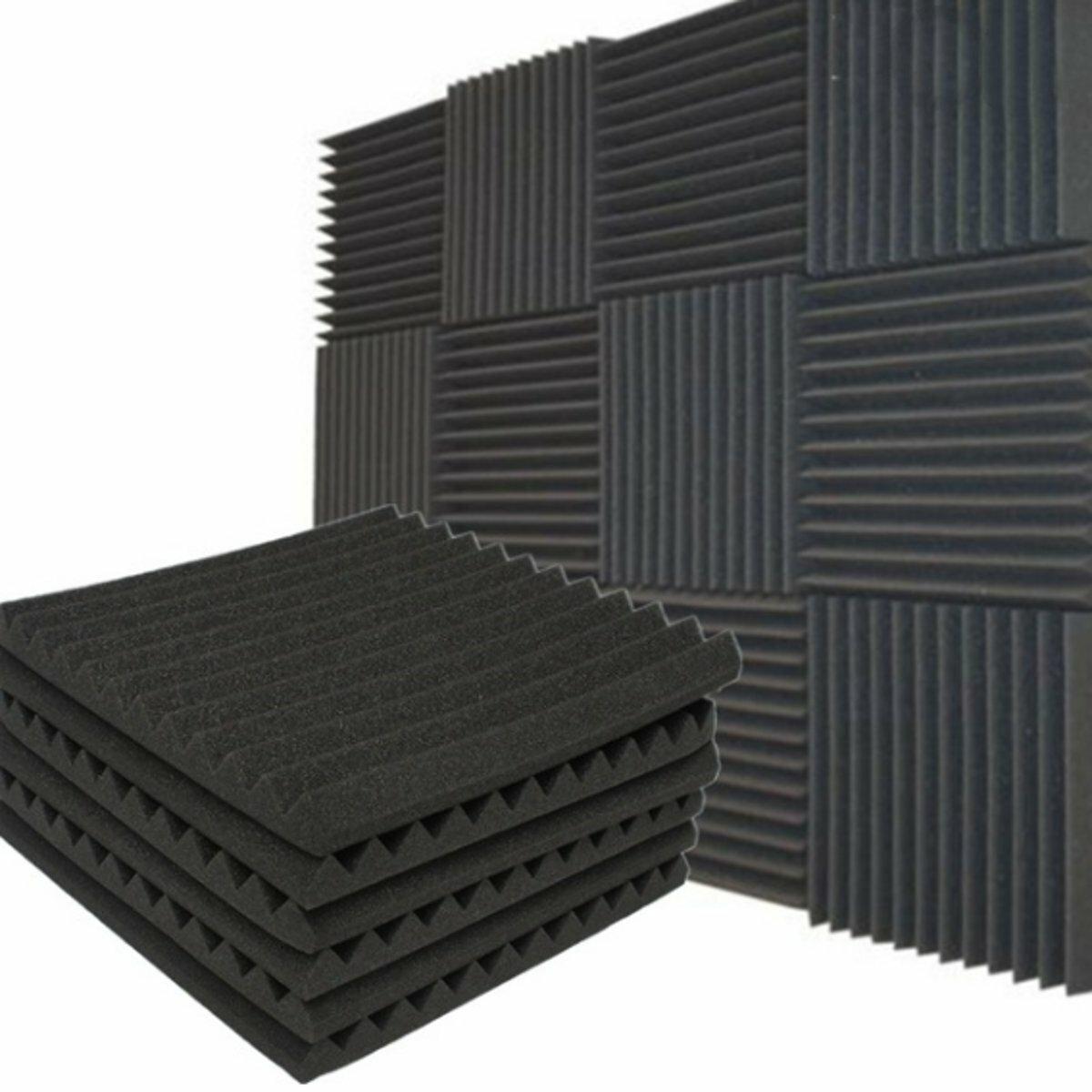 स्टूडियो ध्वनिक ध्वनिरोधी फोम पैनल टाइल ध्वनि अवशोषण प्रूफिंग उपचार वेज 30x30