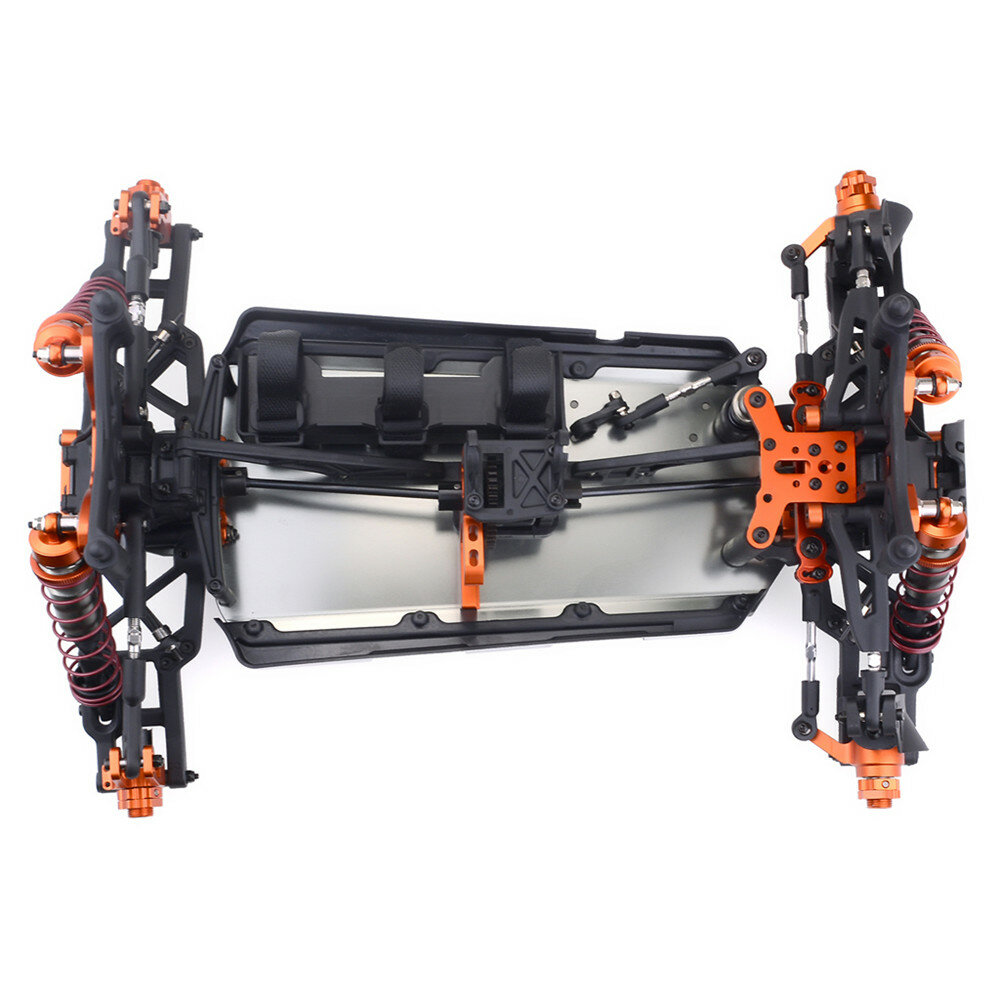 MN90 1/12 2.4G 4WD Rc Car W/ Front LED Light 2 Body Shell Roof Rack Crawler Off-Road Truck RTR Toy - 6