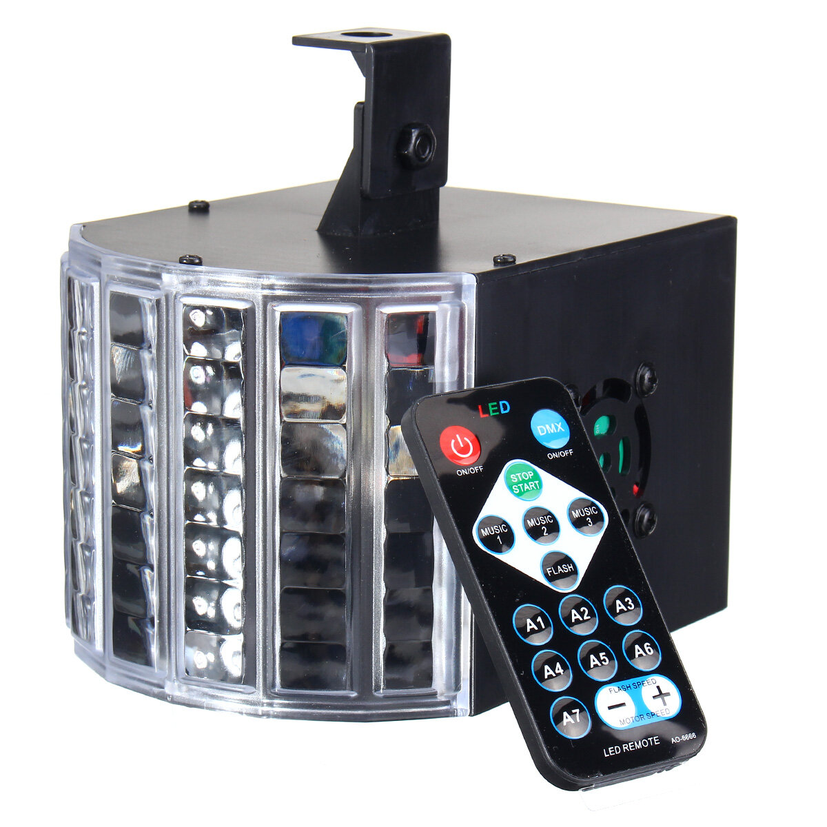 RGB Remote DMX512 Voice Activated 36 LED Stage Light Party Disco KTV Lamp 110-240V - 10