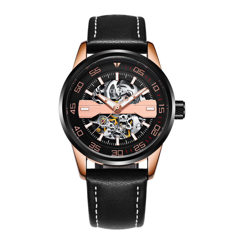 DEFFRUN Business Style Full Steel Automatic Mechanical Watch - 4