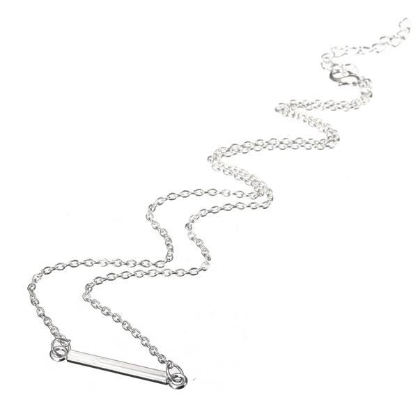 Stick Simple Bar Elegant Women Lady Chain Necklace Jewelry - 4