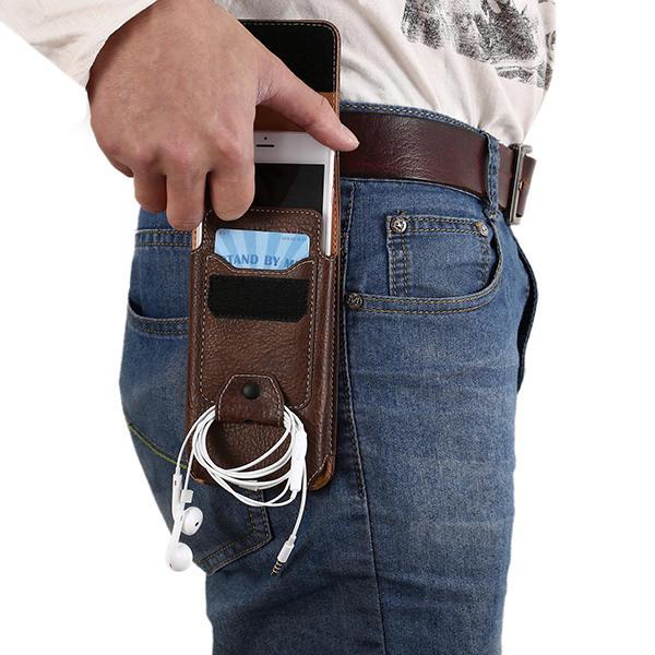 ウエストバッグレジャーヴィンテージ多機能電話ケースウォレットクロスボディバッグ男性用